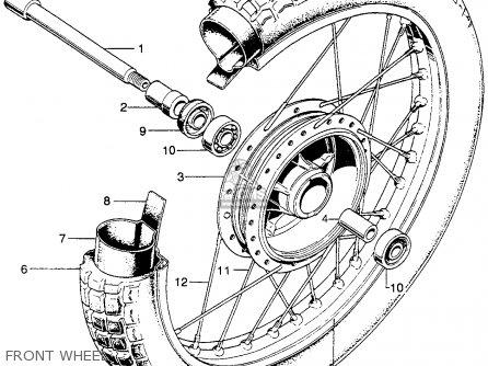 Honda Sl350 Motosport 350 K2 1972 Usa parts list