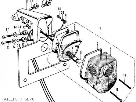 Honda SL70 MOTOSPORT 1971 K0 USA parts lists and schematics
