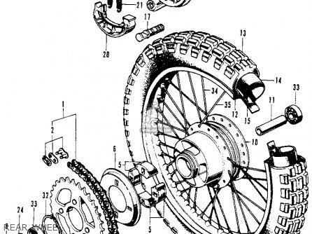 Honda SL70 MOTOSPORT 1973 K1 USA parts lists and schematics