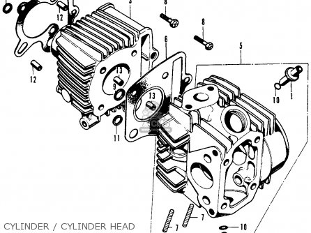 Honda Sl70 Motosport 70 K0 1971 Usa parts list partsmanual