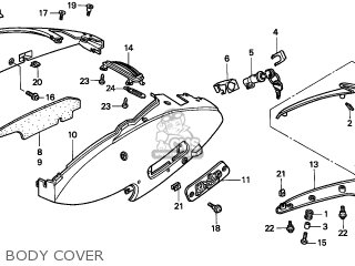 Honda Srx50 Shadow 1998 (w) Italy parts list partsmanual partsfiche