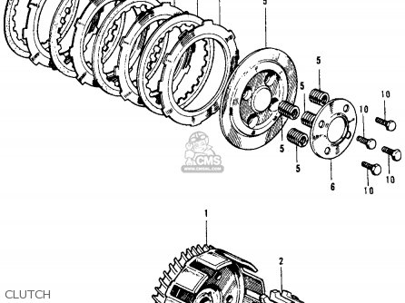 Honda Ss125a Super Sport 125 1967 Usa parts list