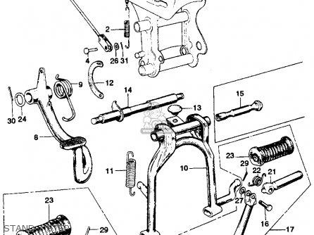 Honda Ss125a Super Sport 1967 Usa parts list partsmanual