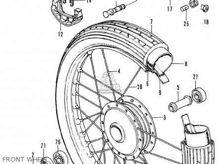 Honda Ss50z K1 Belgium parts list partsmanual partsfiche