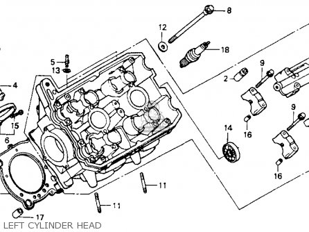 Honda St1100 1992 (n) Usa California parts list