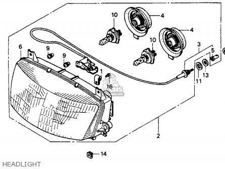 Honda St1100 1992 Usa parts list partsmanual partsfiche