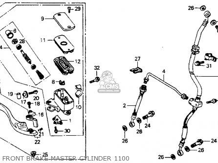 Honda ST1100 1993 (P) USA CALIFORNIA parts lists and