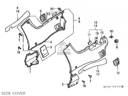 Honda St1100 1994 (r) Australia / Kph parts list
