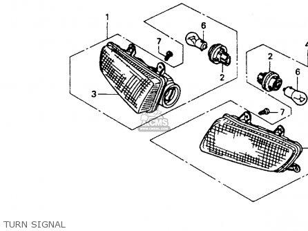 Honda ST1100 1994 (R) USA CALIFORNIA parts lists and