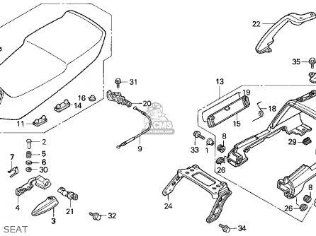 Honda ST1100 1997 (V) USA CALIFORNIA parts lists and