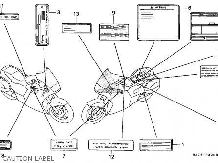 Honda ST1100 1998 (W) CANADA parts lists and schematics