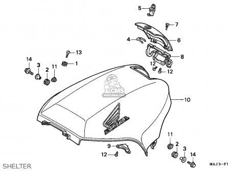 Honda St1100 1998 (w) Canada parts list partsmanual partsfiche