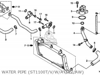 Honda ST1100 1998 (W) CANADA parts lists and schematics