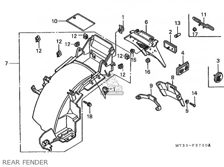 Honda St1100 Pan European 1993 France / Yb parts list