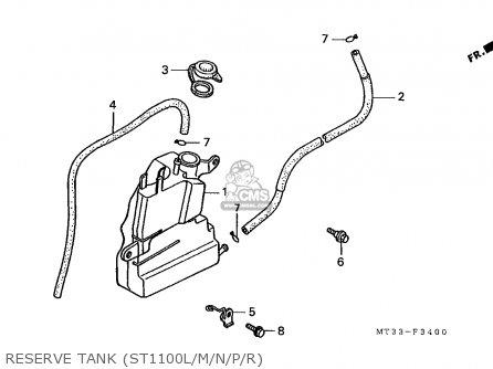 Honda St1100 Paneuropean 1991 (m) England / Mph parts list