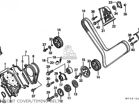 Honda St1100 Paneuropean 1993 (p) France / Yb parts list
