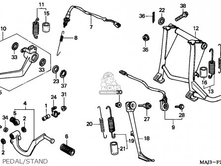 Honda St1100 Paneuropean 1995 (s) England parts list