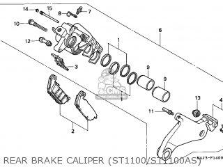 Honda ST1100 PANEUROPEAN 1995 (S) ENGLAND parts lists and