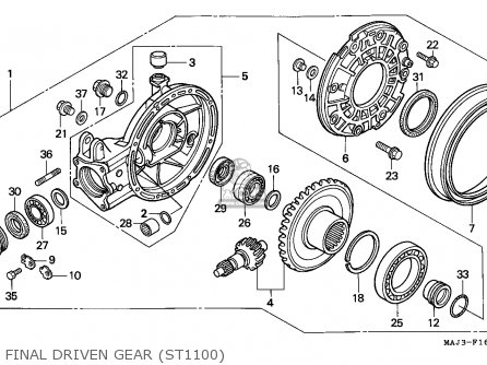 Honda St1100 Paneuropean 1995 (s) Spain parts list
