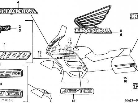 Honda ST1100 PANEUROPEAN 1995 (S) SPAIN parts lists and