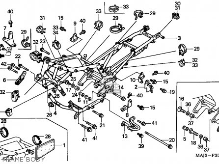 Honda St1100 Paneuropean 1996 (t) England parts list