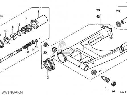 Honda ST1100 PANEUROPEAN 1997 (V) GERMANY parts lists and
