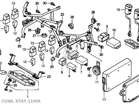 Honda ST1100A 1992 (N) CALIFORNIA / ABS TCS parts lists