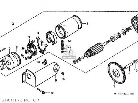 Honda St1100a 1994 (r) Canada / Kph parts list partsmanual