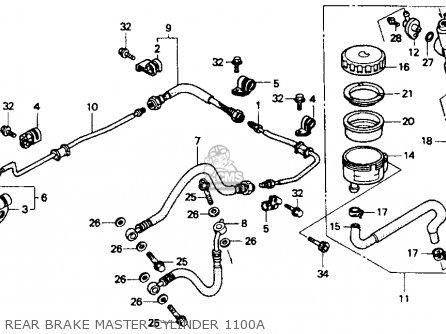 Honda St1100a 1994 (r) Usa California parts list