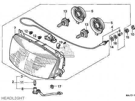 Honda St1100a 1997 (v) Australia / Abs parts list