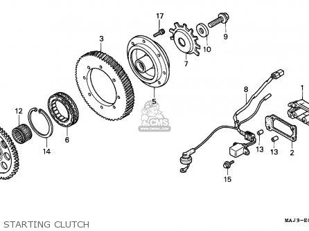 Honda ST1100A 1997 (V) AUSTRALIA / ABS parts lists and