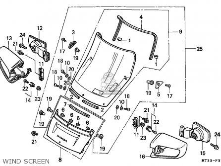 Honda St1100a Pan European 1994 Spain / Kph parts list