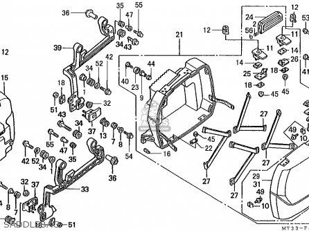 Honda ST1100A PANEUROPEAN 1993 (P) FRANCE / YB parts lists