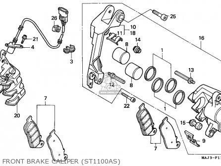 Honda St1100a Paneuropean 1995 (s) European Direct Sales