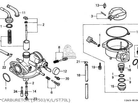 Honda St50 Dax 1989 (k) England parts list partsmanual