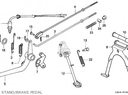 Honda ST50 DAX 1989 (K) ENGLAND parts lists and schematics