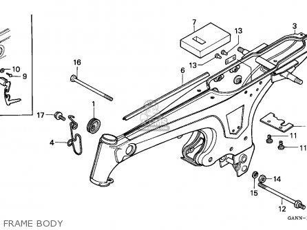 Honda St50 Dax 1992 Germany parts list partsmanual partsfiche