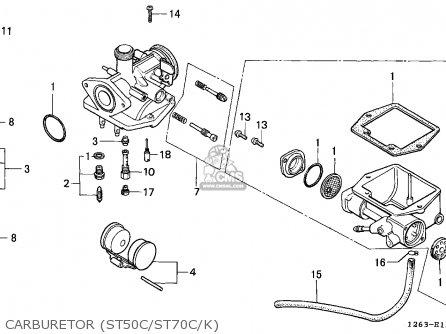 Honda ST70 DAX 1989 (K) GENERAL EXPORT KPH MK parts lists
