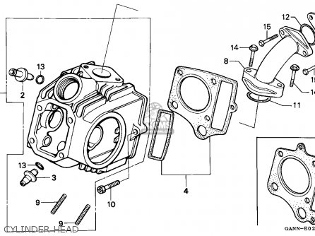 Honda ST70 DAX 1994 (R) GENERAL EXPORT KPH parts lists and