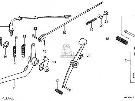 Honda St70 Dax 1996 (t) France parts list partsmanual