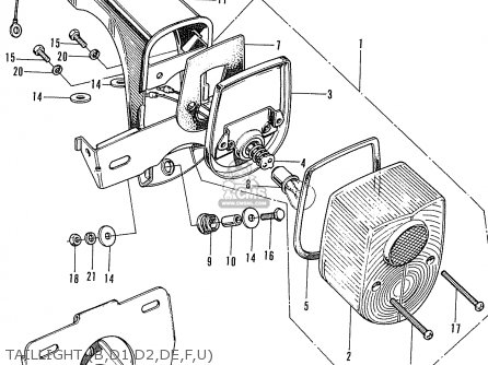 Honda ST70 DAX AUSTRALIA parts lists and schematics