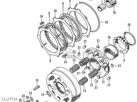 Honda St70 Dax England parts list partsmanual partsfiche