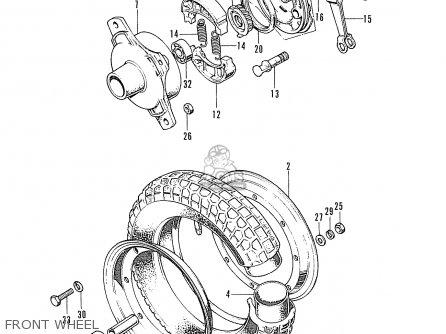 Honda St70 Dax France parts list partsmanual partsfiche