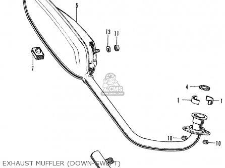 Honda St70 Dax General Export Type 1 parts list