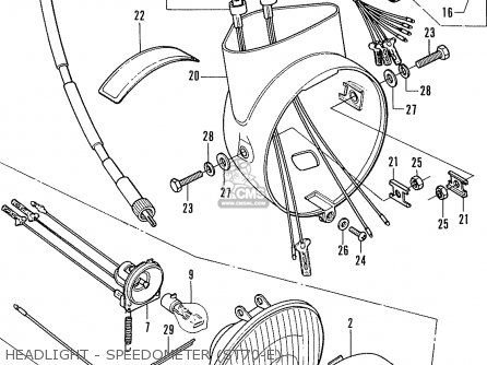 Honda ST70K3 DAX ENGLAND parts lists and schematics
