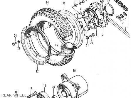 Honda St70k3 Dax France parts list partsmanual partsfiche