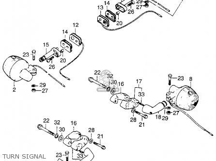 Honda St90 Trailsport 1973 K0 Usa parts list partsmanual