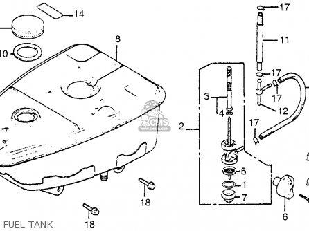 Honda TG50 GYRO S 1986 (G) USA parts lists and schematics