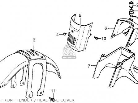 Honda TG50M GYRO S 1985 (F) USA parts lists and schematics
