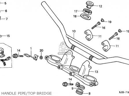 Honda TL125 1983 (D) FRANCE parts lists and schematics